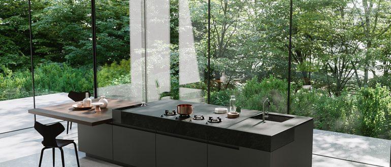 modern fekete konyhabútor